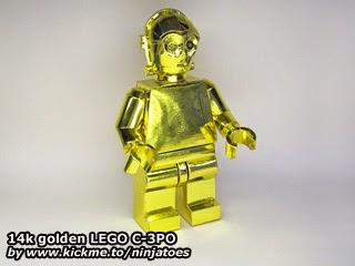 LEGO Papercraft 14k Gold C-3PO