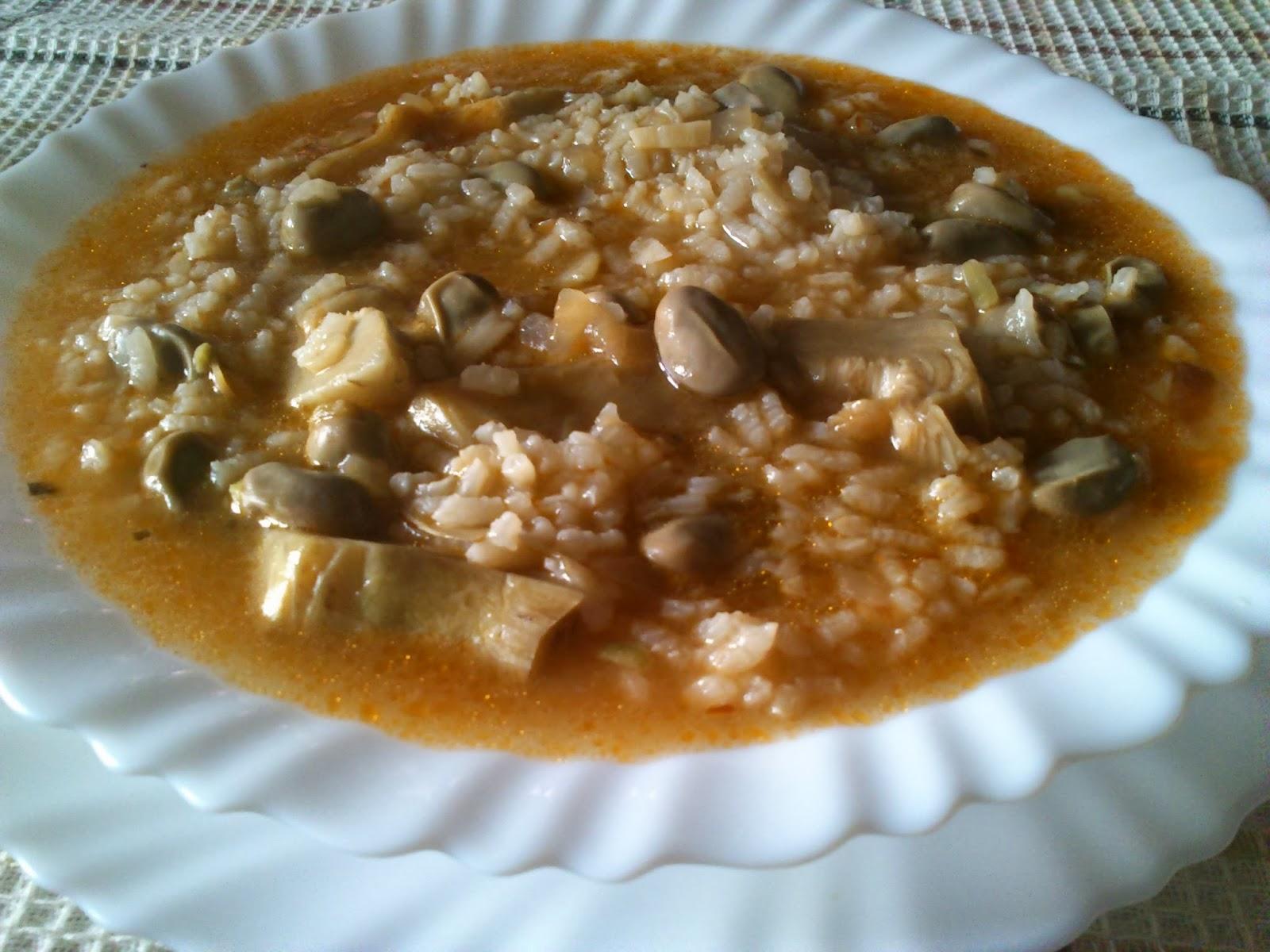 La cocina de inma mic arroz caldoso con habas y alcachofas - Arroz caldoso con costillas y alcachofas ...