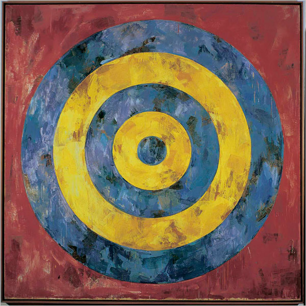 Jasper Johns Target 1961 Encaustic on Canvas sold by Joseph K .Levene in 1989
