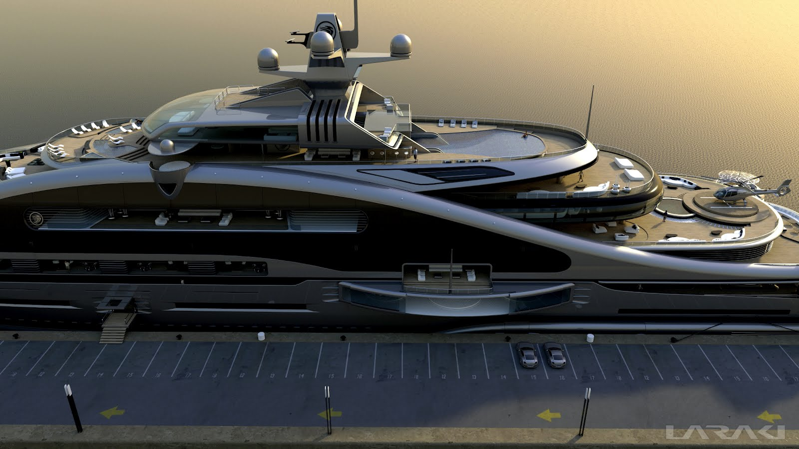 Megayacht global laraki yacht designs impressive 163m for Yacht dekoration