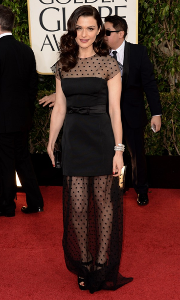 Golden Globes 2013 best dressed red carpet LUA luv u always leggings Rachel Weisz