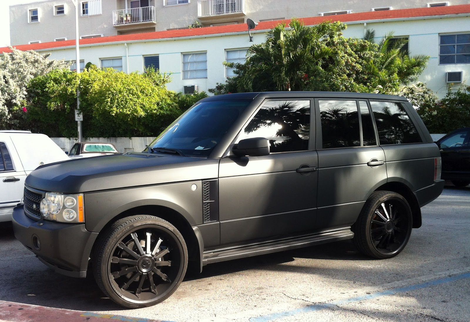 Matte Black Range Rover Supercharged Exotic Cars On The Streets Of Miami