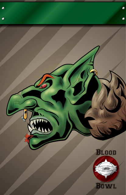 Blood Bowl Team Goblin Poster Illustration Games Workshop