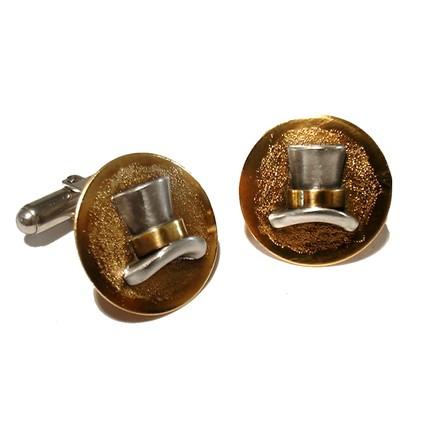 Steampunk Jewelry Top Hat Cufflinks