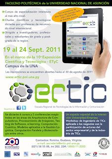 Imagen del afiche web de la ERTIC 2011