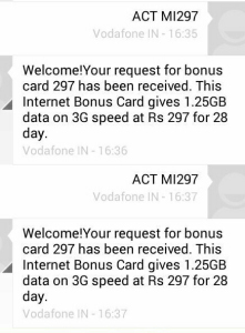1GB 3g data just at rs 11 in Vodafone