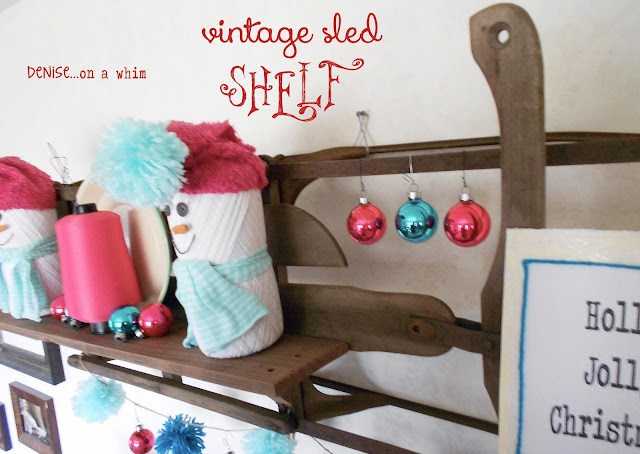 Repurposing a sled into a shelf via http://deniseonawhim.blogspot.com