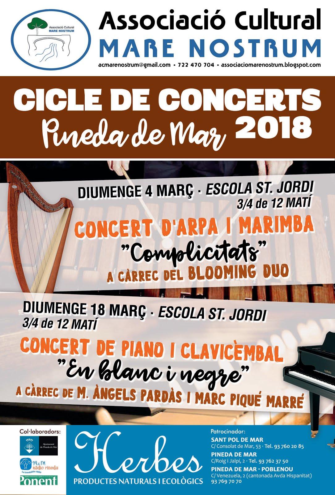CICLE DE CONCERTS 2018