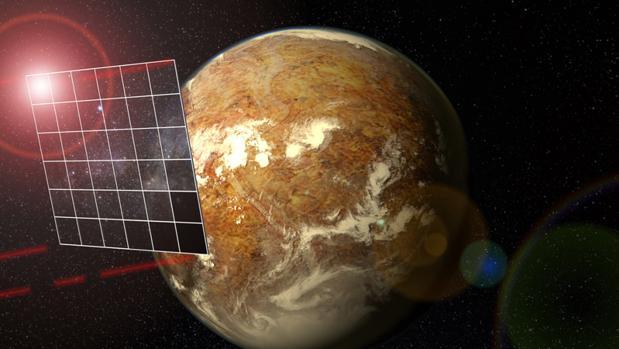 Vela para viajar y explorar el espacio