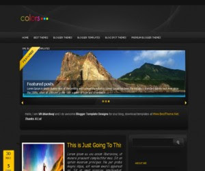 Blackon Blogger Template