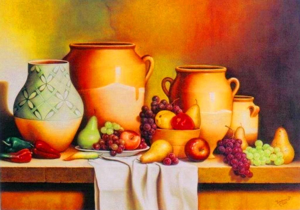 Frutas al leo imagui for Pinturas bodegones modernos