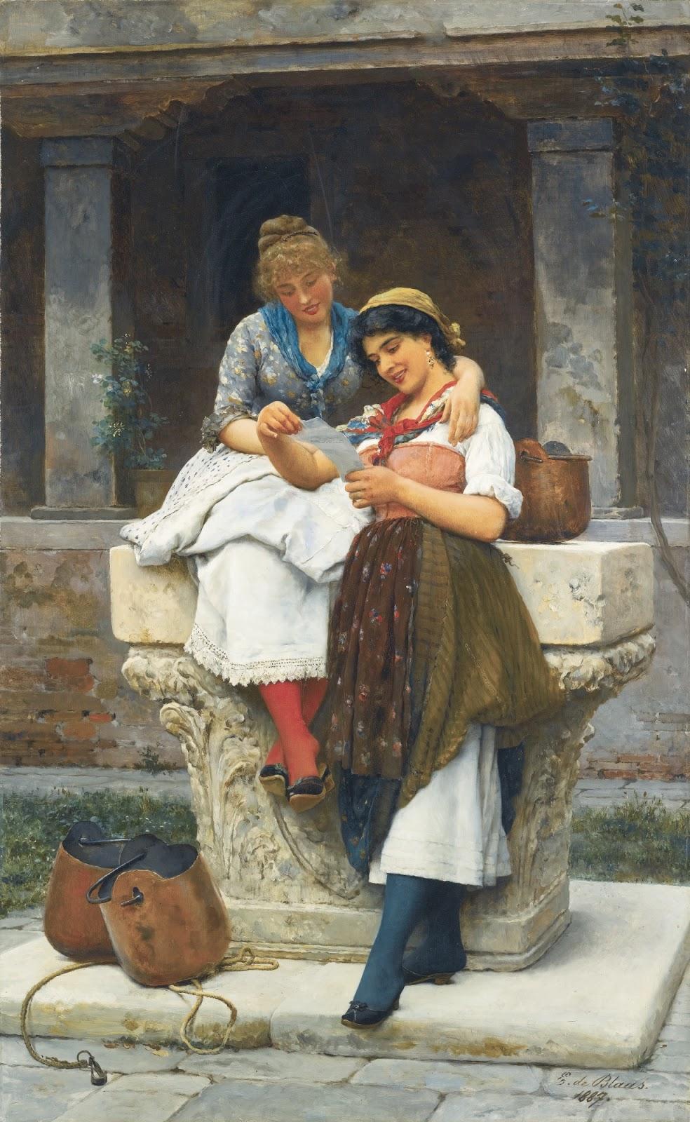 Eugene de  laas The love letter