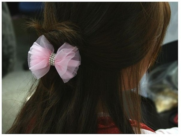 Заколки бантики ободки резинки для волос своими руками