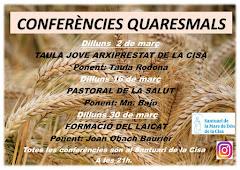 CONFERÈNCIES QUARESMALS AL SANTUARI DE LA CISA