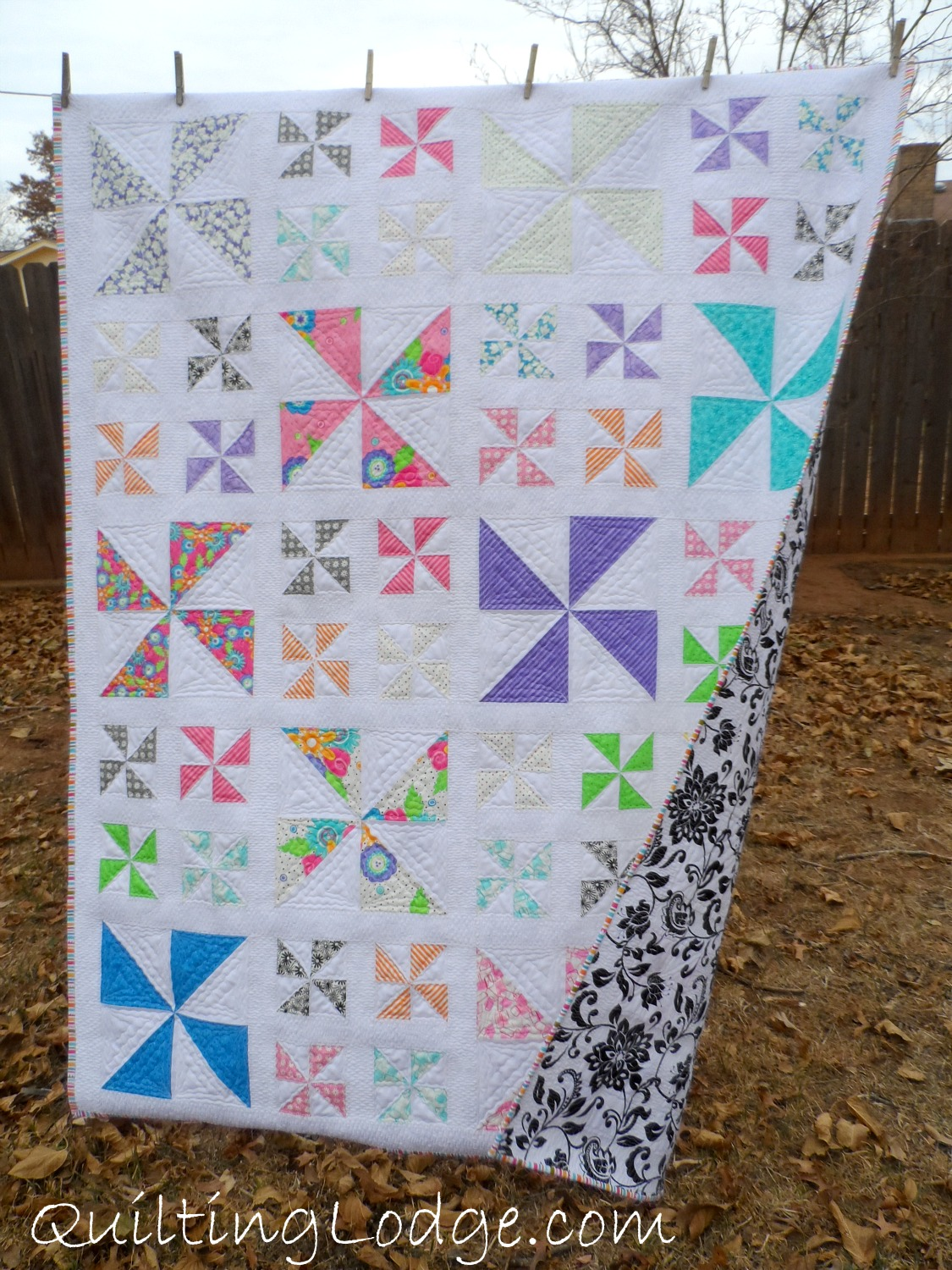 Free Quilt Block Patterns Pinwheel : Pinwheel Quilt - Orchid Owl Quilts