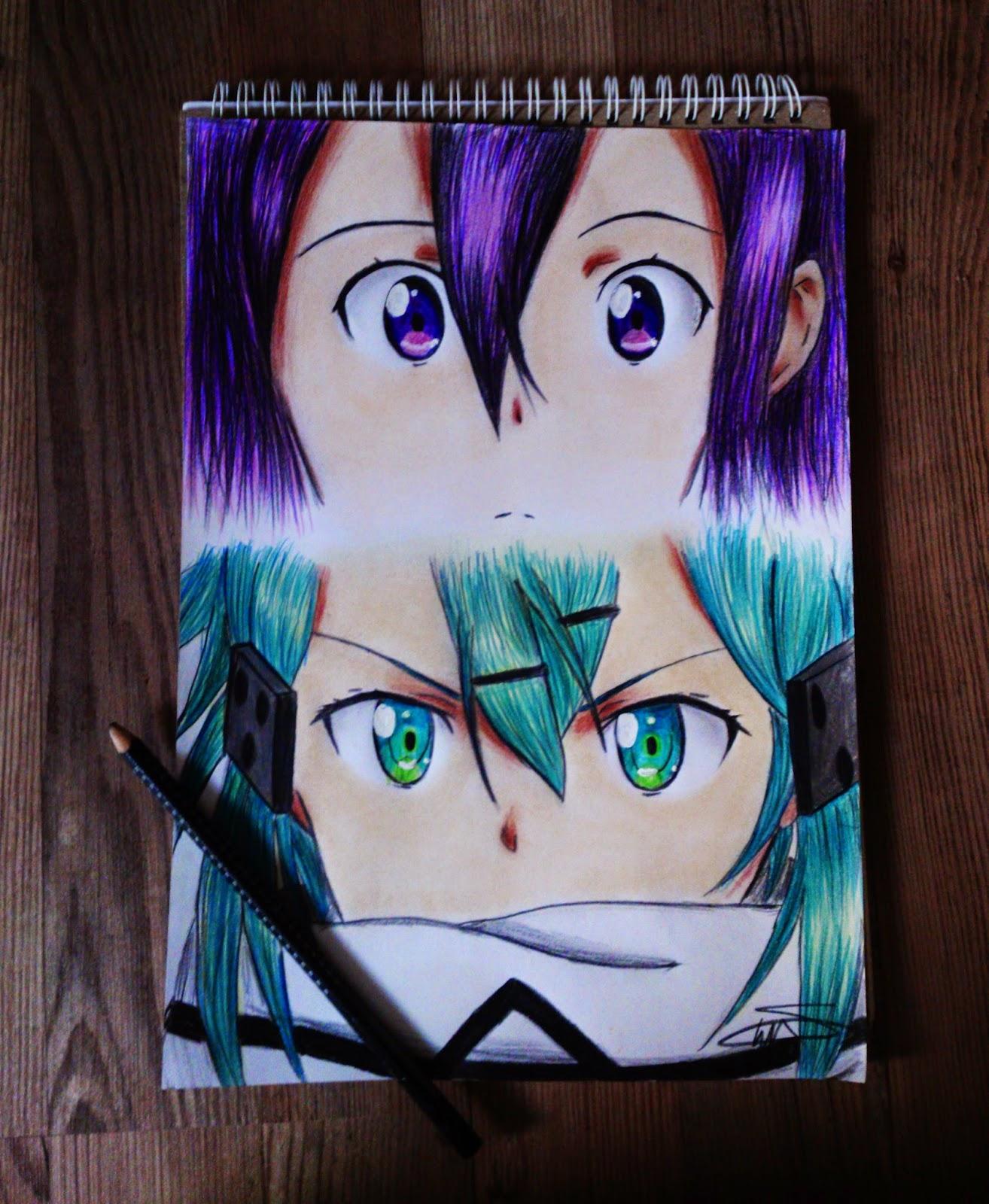 Seda Ugur Sword Art Online 2 Kirito And Sinon Drawing