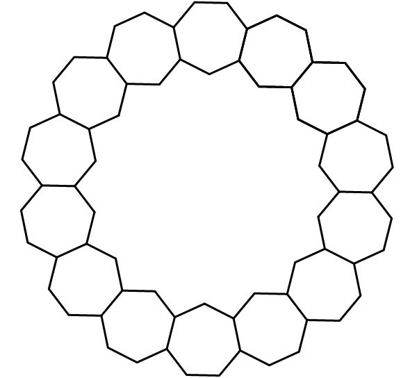 mathrecreation: regular polygons, in rings
