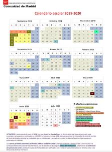 Calendario escolar curso