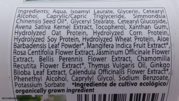 ingredientes crema equilibrante natural carol