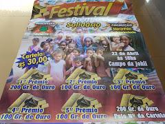 """VEM AÍ """"FESTIVAL DE PRÊMIOS SOLIDÁRIO""""."""