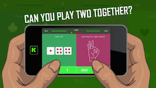 Screenshots of the Two Fingers One Brain for Android tablet, phone.