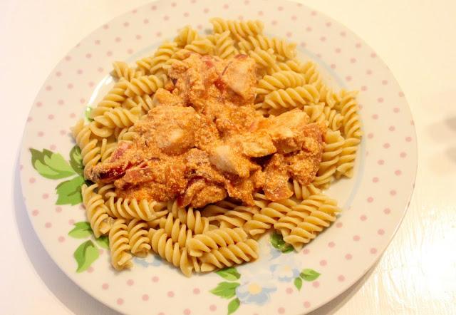 slimming world tomato chicken & bacon pasta