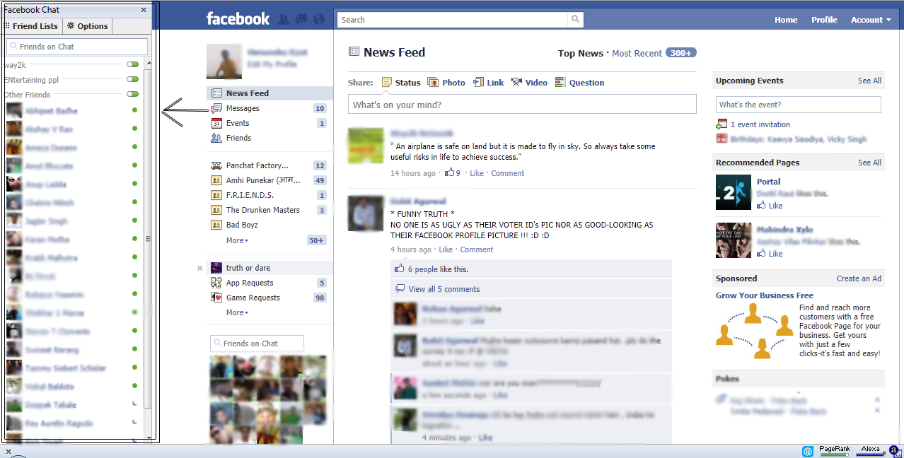How To Get Back Old Facebook Chat Facebook Chat Sidebar