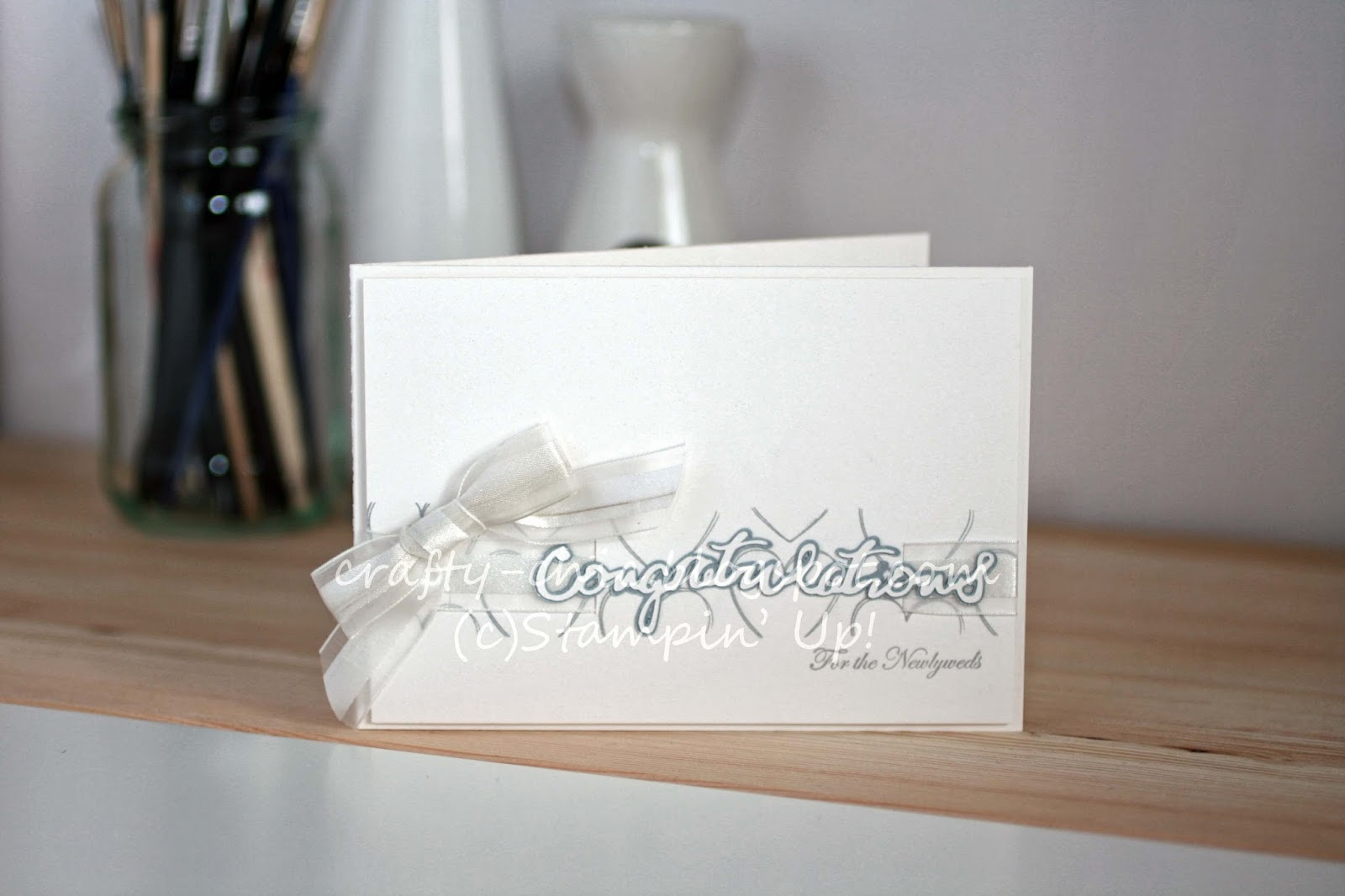 A wedding card made with the hearts a flutter stamp set by Stampin' Up!