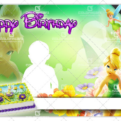 TinkerBell Birthday Template PSD
