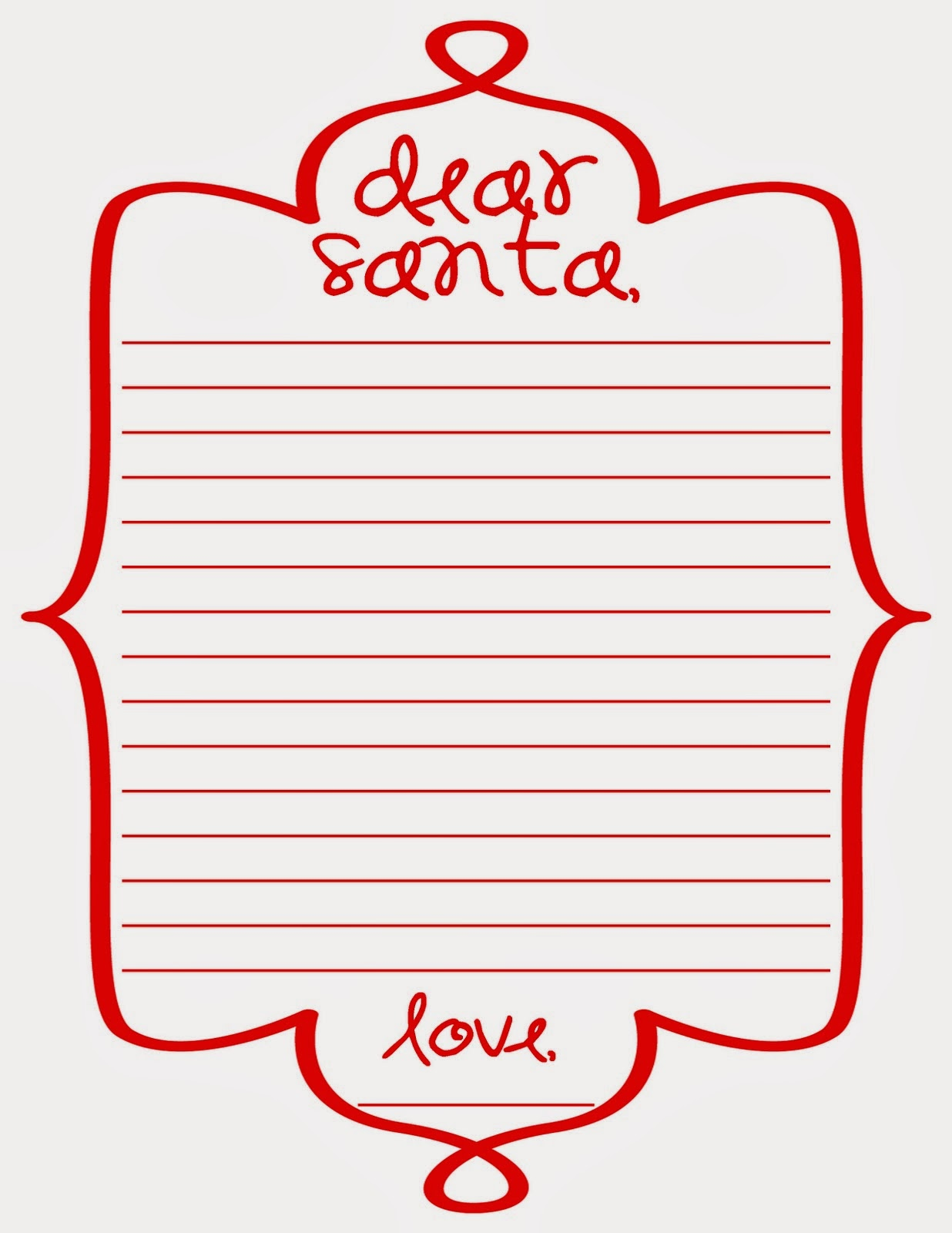 Doc8591100 Santa Wish Lists Free Printable Letter to Santa – Santa List Template