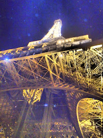 Light Landing Upon Eiffel Tower