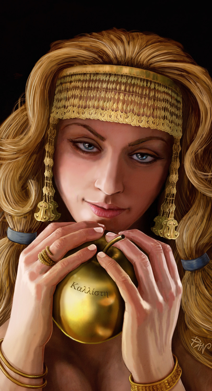 aphrodite_and_the_golden_apple_by_panaio