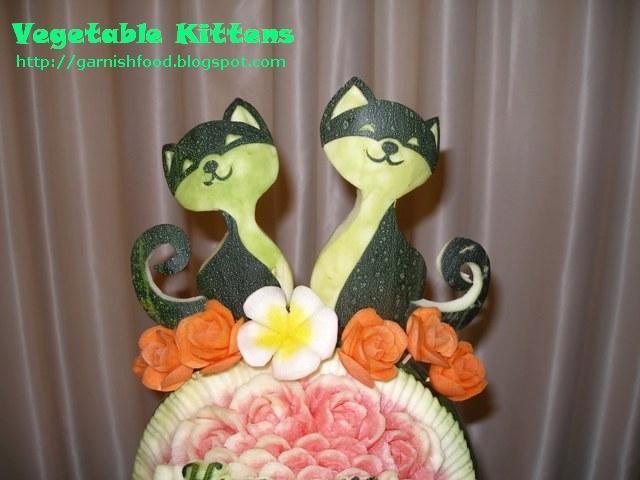 Поделки кошка из овощей