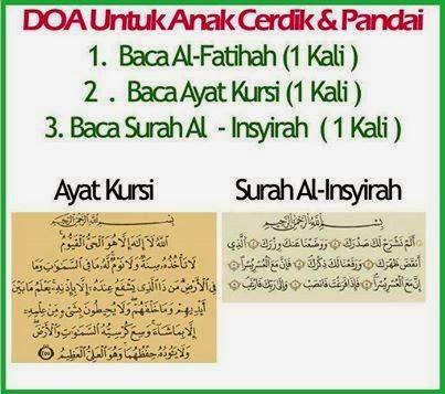 Doa untuk anak cerdik & pandai