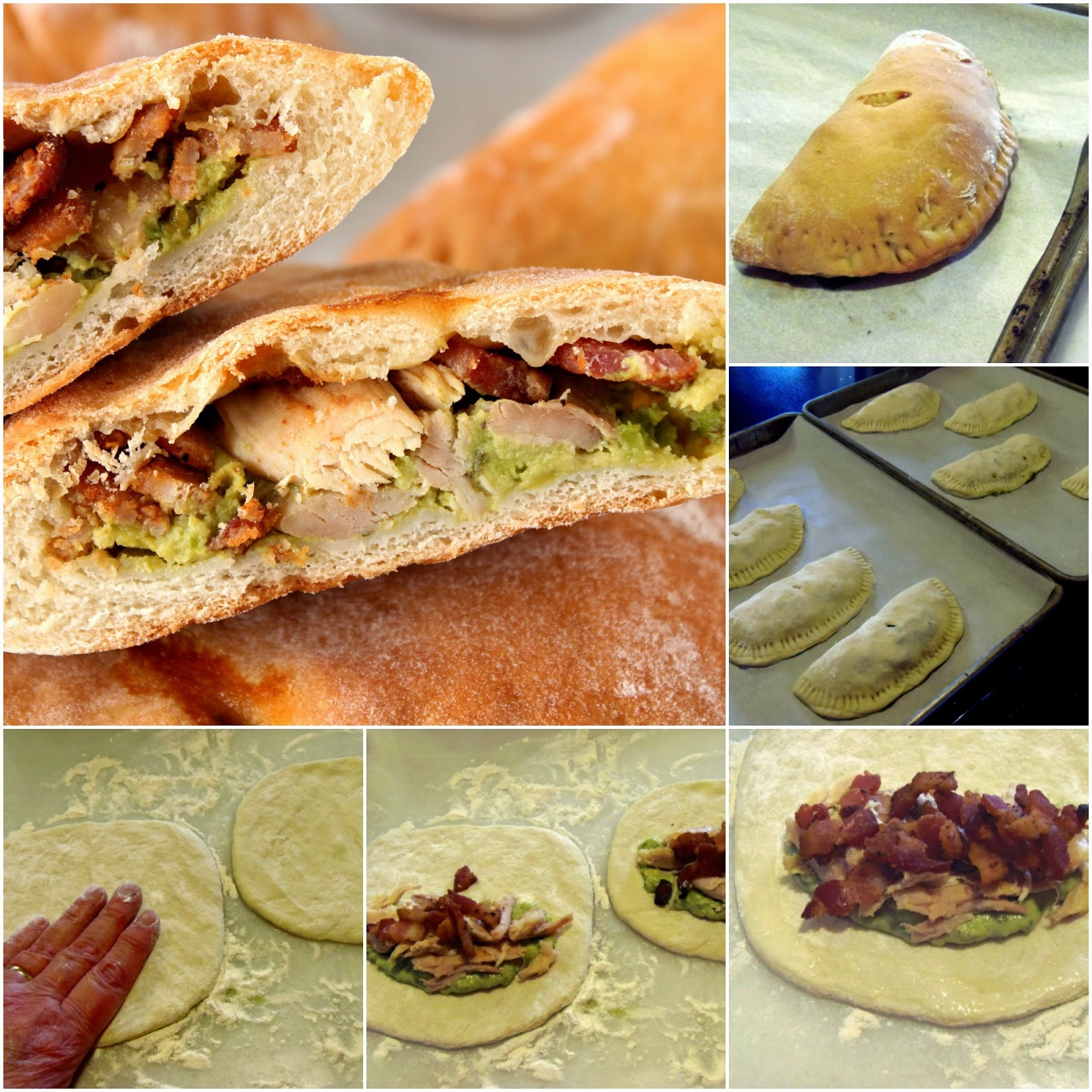 Chicken, Bacon and Avocado Calzones Recipe