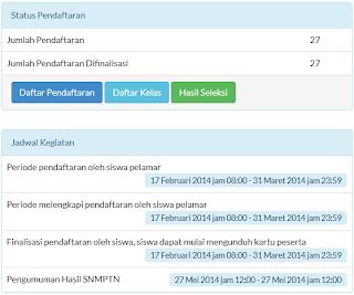 Jadwal Kegiatan SNMPTN 2014