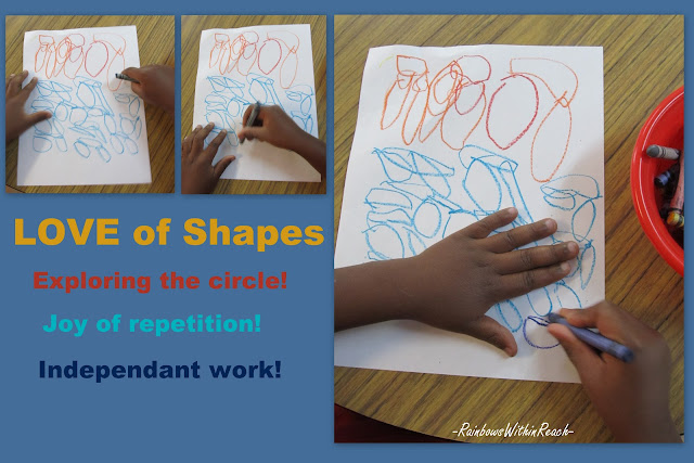 Circle shape inPhoto of: circle shape in preschool, drawing circles, fine motor development, ECE, NAEYC