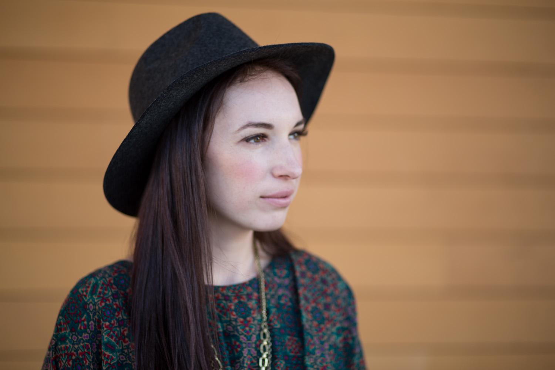 Anthropologie Britt Rancher Hat in Grey