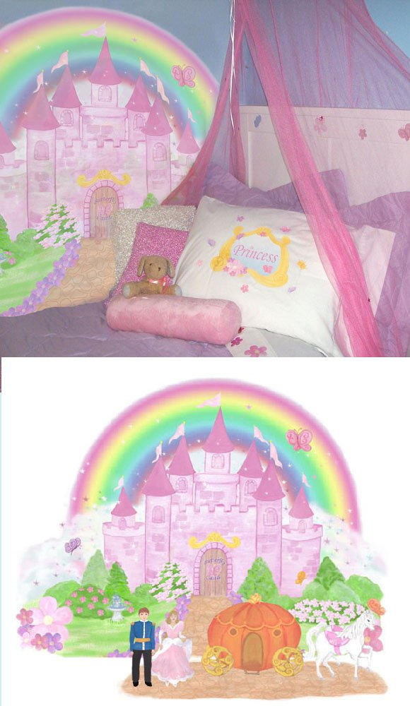 Js reviews and giveaways wall sticker outlet review and for Castle mural kids room