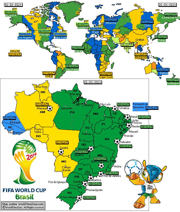 Interactive Time Map for 2014 FIFA World Cup Brazil Photos Brazil World Cup