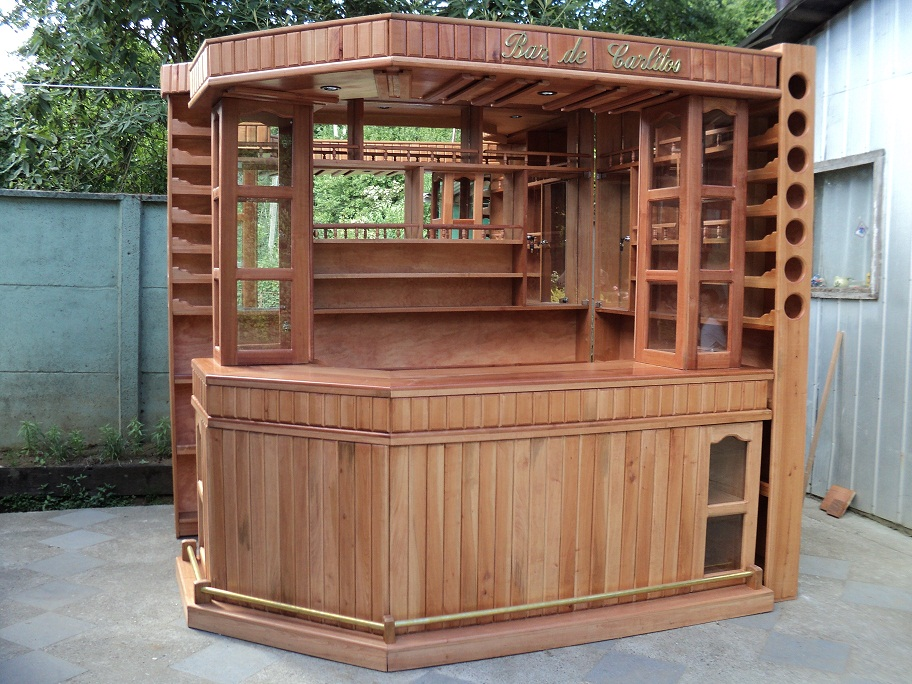 Muebles j m valdivia bar esquinero personalizado for Bar rodante de madera