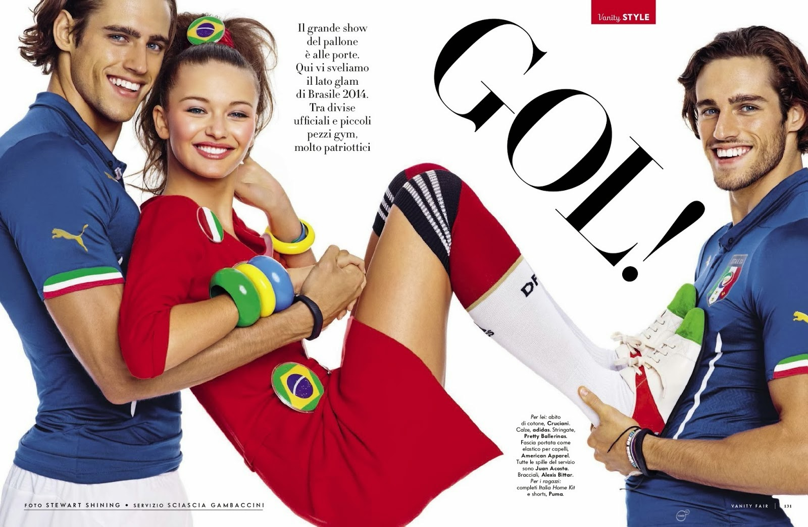 Kristina Romanova And Jordan And Zac Stenmark By Stewart Shining For Vanity Fair Magazine, Italia, June 2014