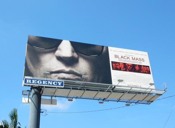 Johnny Depp Black Mass movie billboard