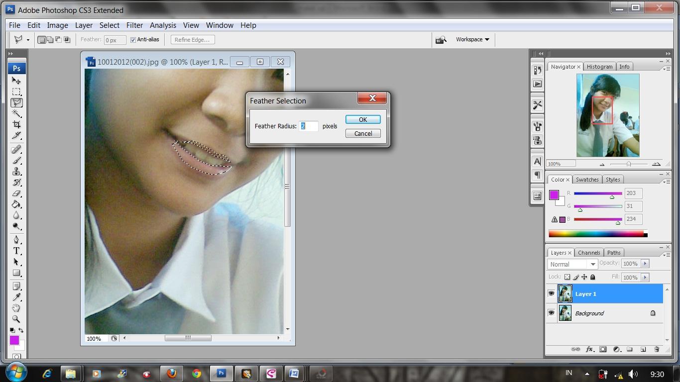 Cara meng foto melalui photoshop
