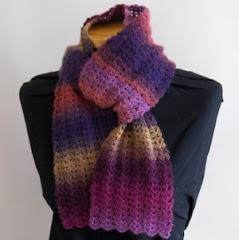 Gehaakte sjaal van de scheepjes invicta colour