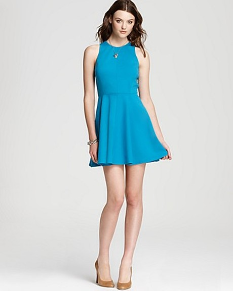 the gallery for gt casual turquoise dress