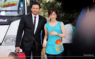 Hot Neha Sharma and  Vivek Oberoi Wallpaper