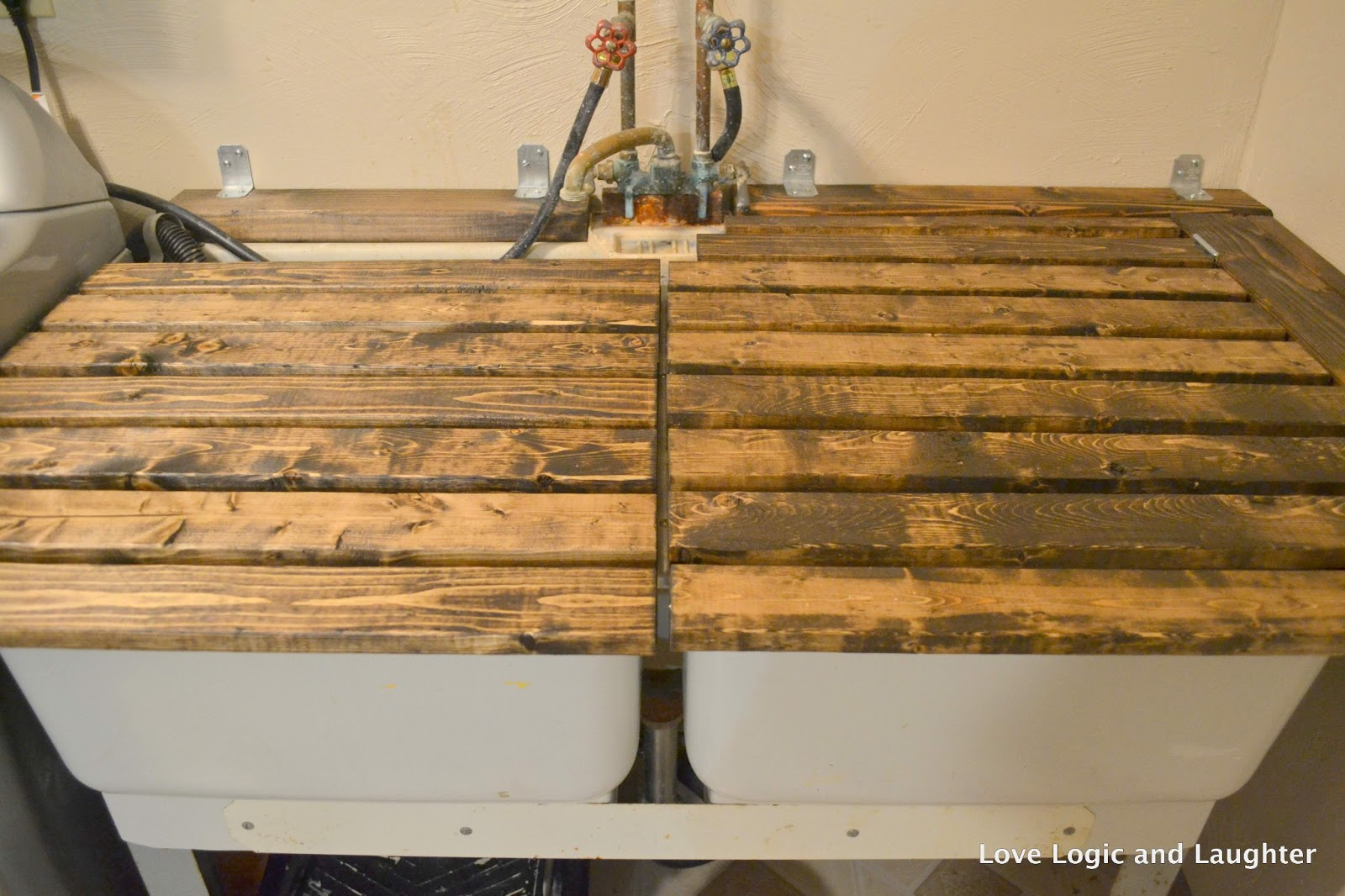 Utility Sink With Countertop : Laundry Room Makeover - Part 1: Updated Utility Sink