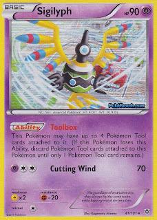 Sigilyph Plasma Blast Pokemon Card