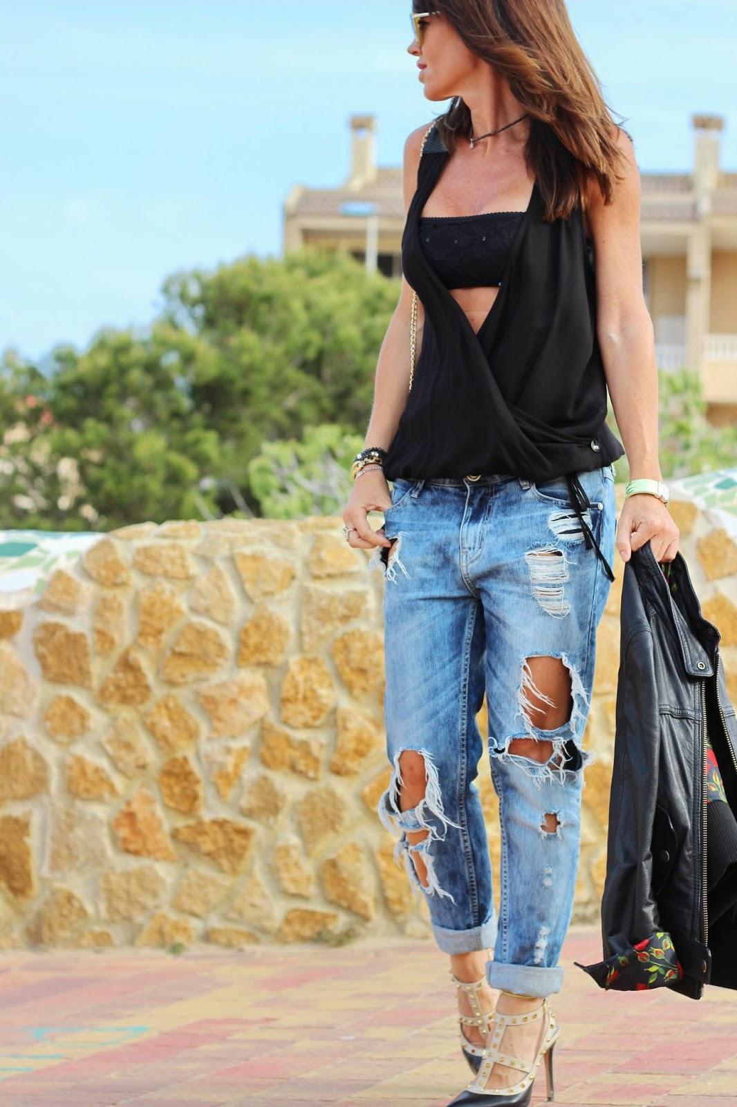 Outfit 2014 - Boyfriends jeans - T-shirt Met
